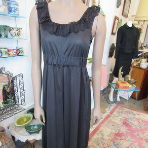 Vintage Black Nightgown Size S-M